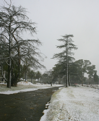 Snowing in Johannesburg